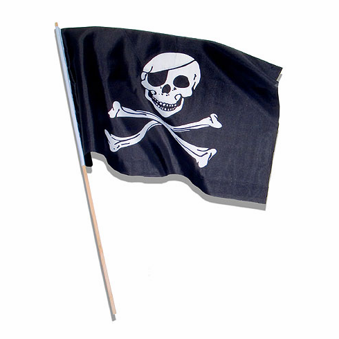 Pelican Bay Nautical Gifts FL-10 4 x 6 Inch Pirate Flags - Set of 12