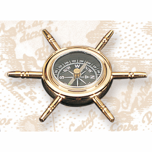 Pelican Bay Nautical Gifts T-32 4 Inch Wheel Compass