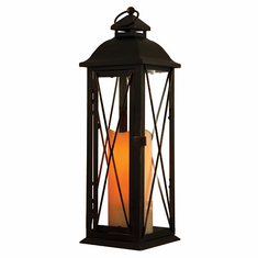 Smart Solar 84036-LC Siena Lantern with LED Candle