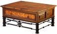 1 Drawer Coffee Table with Pablo Base and Copper