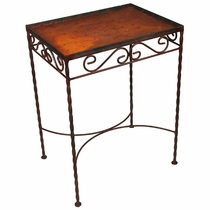 12 Tile Iron Side Table  - Blank