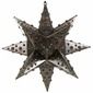 "18"" Medium Elegant Tin Star Light With Marbles"