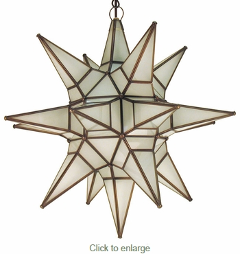 18 Point Frosted Glass Star Light