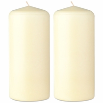 "2.75"" X 6.5"" - Unscented Classic Pillar Candles - Set of 2"