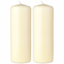 "2.75"" X 8"" - Unscented Classic Pillar Candles - Set of 2"