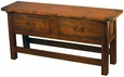 2 Drawer Ranch Console Table