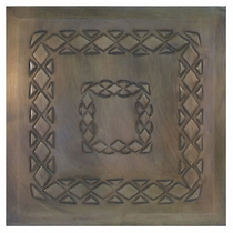 """2 - Embossed Aged Tin 12"""" Ceiling Tiles - Style A"""