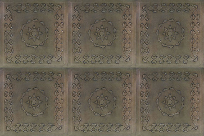 2 Mexican Embossed Tin Ceiling Tiles 12 Style C