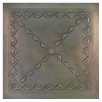 "2 - 12"" Tin Ceiling Tiles - Mexican Embossed - Style D"