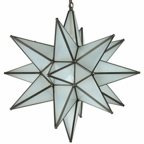 20 Inch Completely Frosted Glass Star Fixture