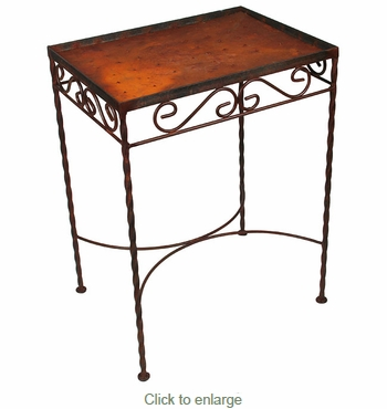 20 Tile Iron Side Table  - Blank