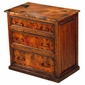 3-Drawer Small Dresser with Copper