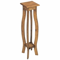"""36"""" Tall Mexican Pine Pedestal Plant Stand"""