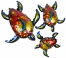 3D Metal Sea Turtles Wall Art - Set of Three