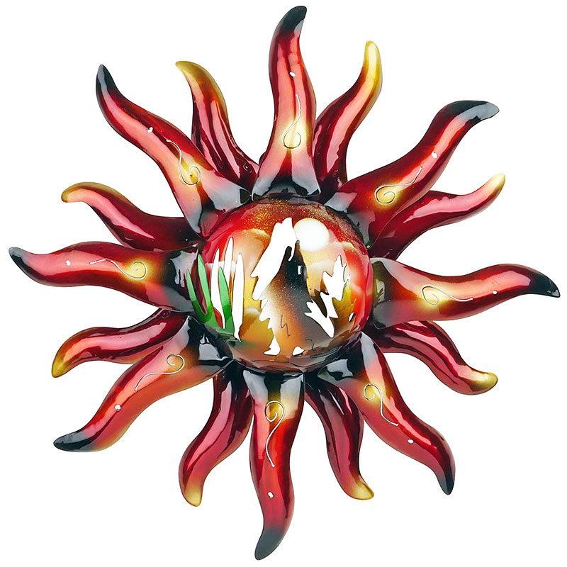ordinary Metal Sun Wall Art Part - 19: Direct From Mexico