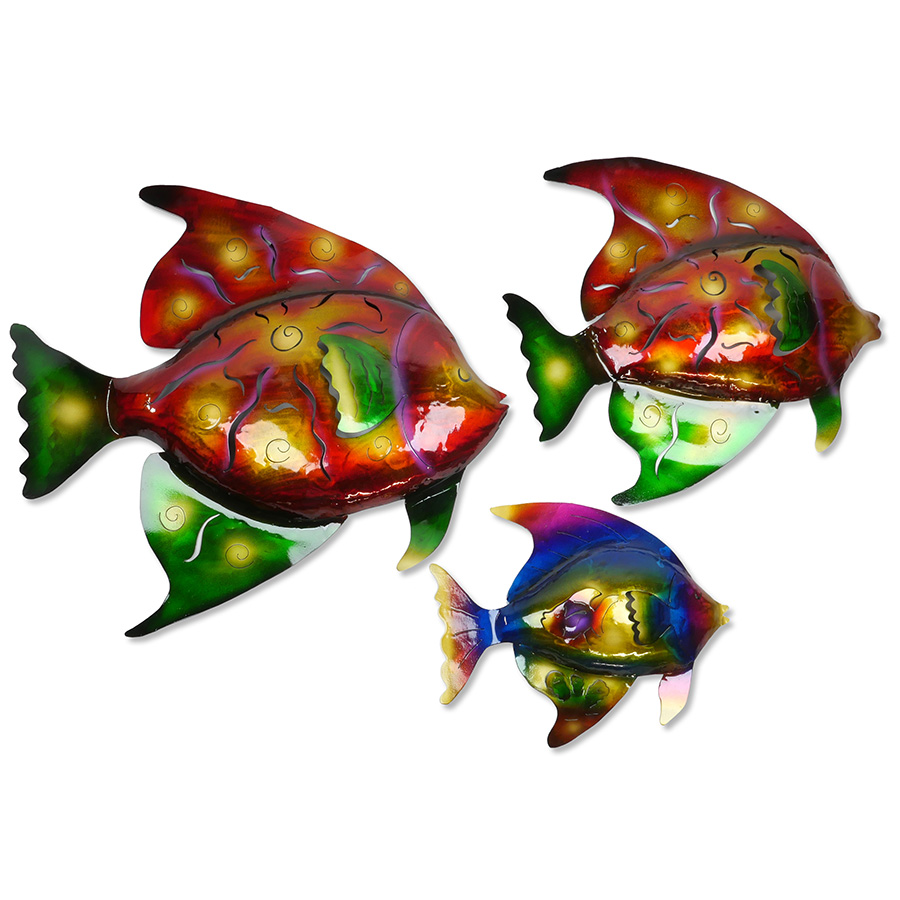 sc 1 st  Direct From Mexico & 3D Metal Tropical Fish Wall Art - Set of Three