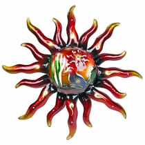 3D Metal Wall Art Sun with Desert Scene