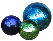 "4"" Hand Blown Glass Gazing Balls"