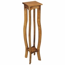 """42"""" Tall Rustic Pine Pedestal Plant Stand"""