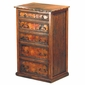 5-Drawer Tall Dresser with Copper