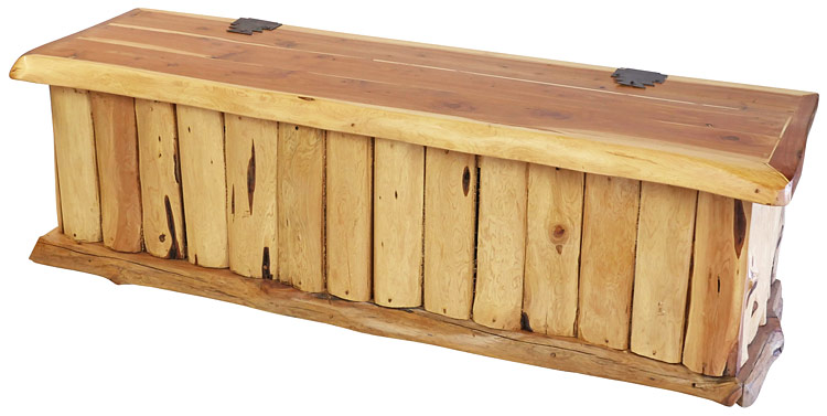 Magnificent 5 Foot Rustic Cedar Storage Bench Or Blanket Chest Gmtry Best Dining Table And Chair Ideas Images Gmtryco