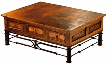 6 Drawer Coffee Table with Pablo Base and Copper