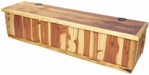 6 Foot Rustic Cedar Storage Bench or Blanket Chest