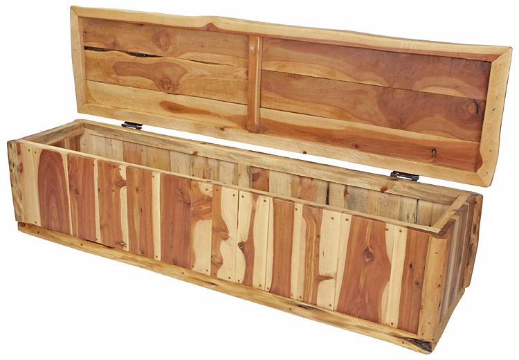 Superb 6 Foot Rustic Cedar Storage Bench Or Blanket Chest Creativecarmelina Interior Chair Design Creativecarmelinacom