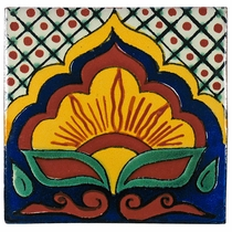 "6"" Talavera Flower Tile - PP2238 - 10 Tiles"