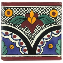 "6"" Talavera Tile - PP2290 - 10 Tiles"