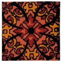 "6"" Talavera Tile - PP2297 - 10 Tiles"