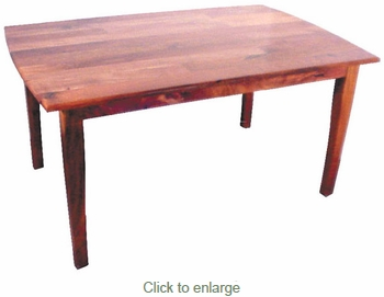 60 inch San Rafael  Mesquite Curved Leg Dining Table