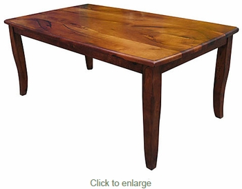 72 inch San Rafael Mesquite Curved Leg Dining Table