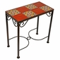 8 Tile Mexican Iron Side Table with Talavera Tile Top