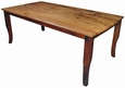 84 inch San Rafael Mesquite Curved Leg Dining Table