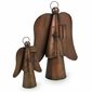 Aged Tin Angel Candleholders