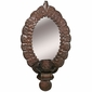Aged Tin Wall Candle Sconce with Mirror