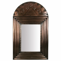 Aged Tin Channel Mirror