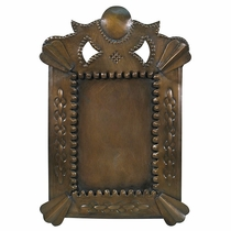 Aged Tin Crown Top Picture Frames