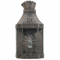 Aged Tin Crown Wall Lantern Sconce