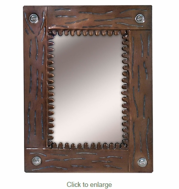 Aged Tin Etched Picture Frame 5 x 7