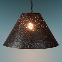 Aged Tin Extra Punched Hanging Shade