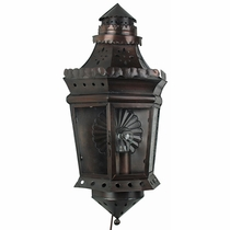 Aged Tin & Glass Colonial Wall Sconce