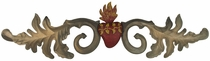 Aged Tin Heart Door Ornament