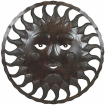 Aged Tin Jumbo Mexican Sun Face 36""