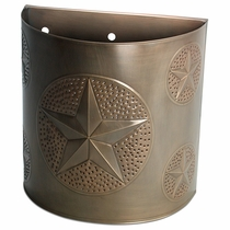Aged Tin Lone Star Sconce