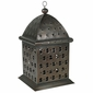 Aged Tin Moroccan Dome Candle Lantern