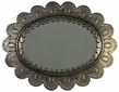 Aged Tin Oval Petal Mirror