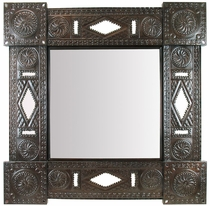 Aged Tin Square Chinese Frame