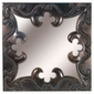 Aged Tin Square Ornate Mirror